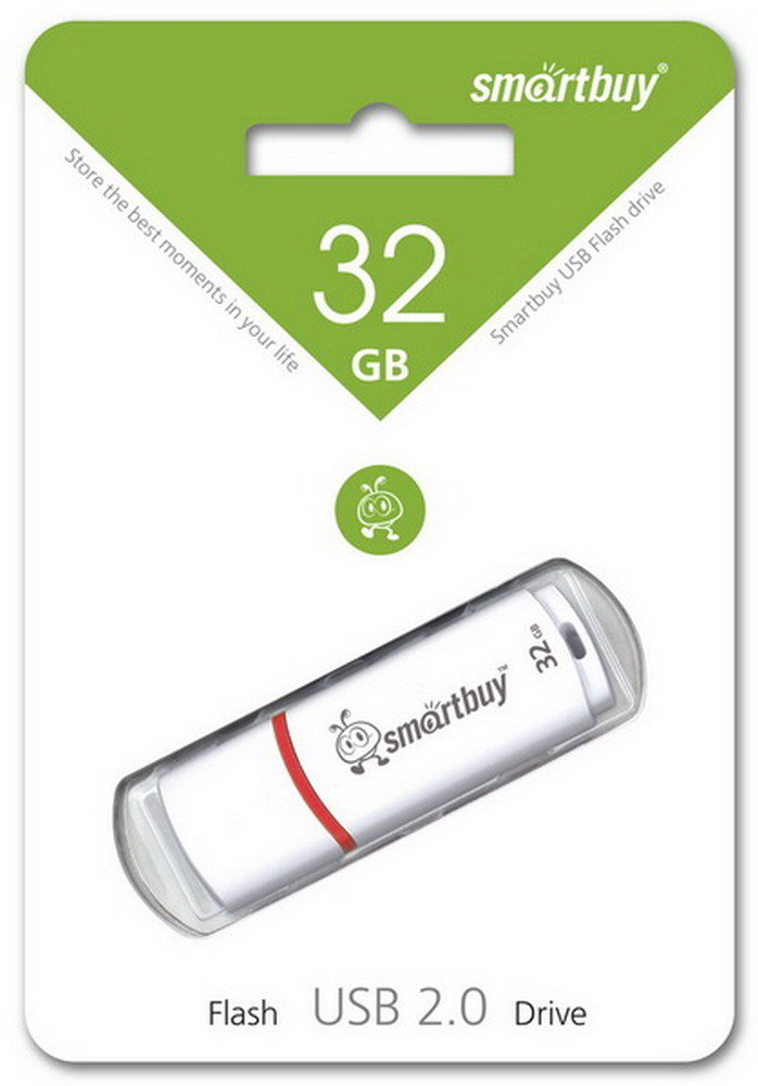 USB флэш накопитель 32 Gb SmartBuy Crown White SB32GBCRW-W.jpg