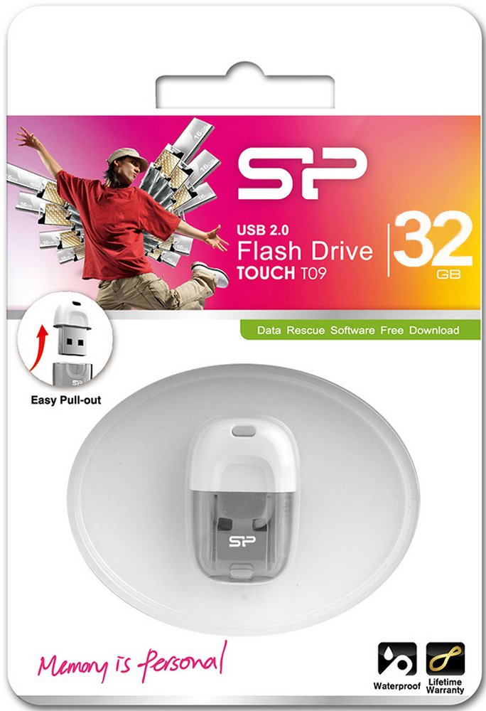 USB флэш накопитель 32 Gb Silicon Power TOUCH T09 White.jpg