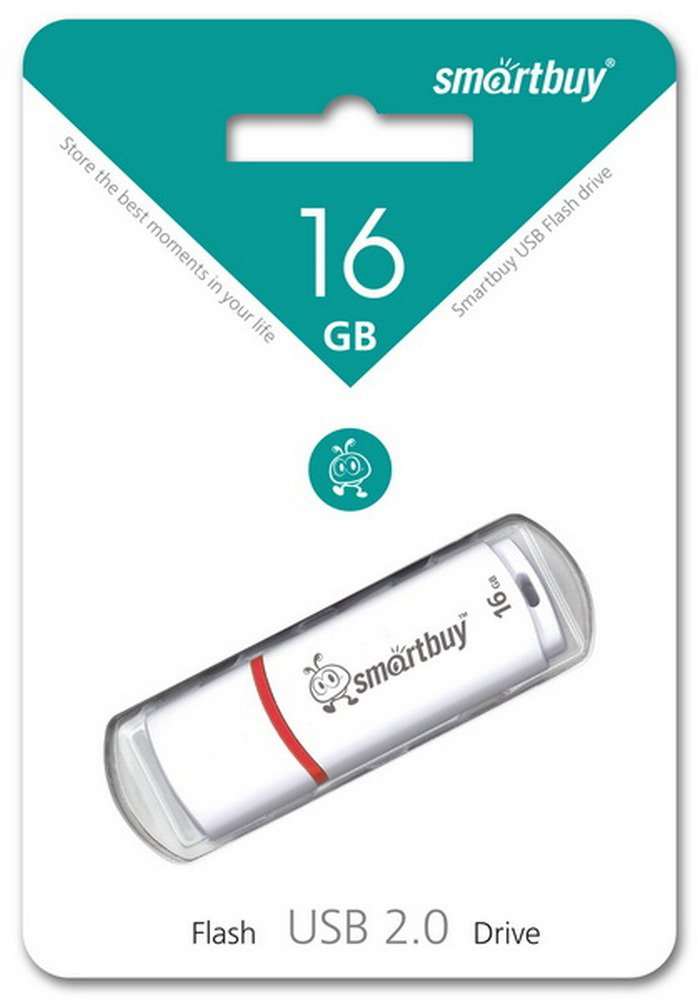 USB флэш накопитель 16 Gb SmartBuy Crown White SB16GBCRW-W.jpg