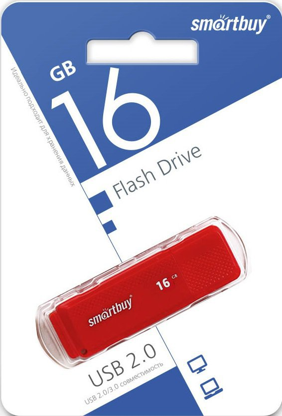 USB флэш накопитель 16 Gb SmartBuy Dock Red SB16GBDK-R.JPG