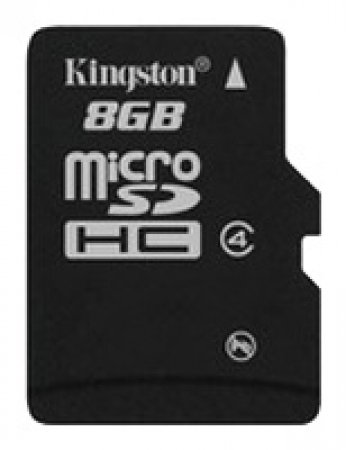 Карта памяти MicroSDHC  8 Gb Kingston class 4 без адаптера