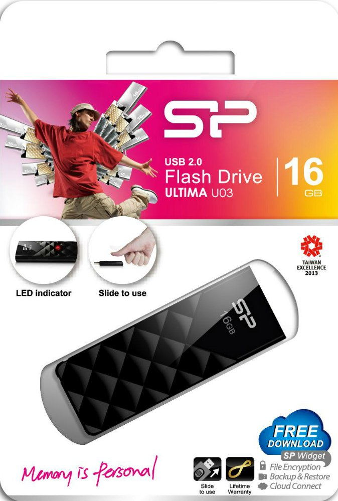USB Flash Drive  4 Gb Silicon Power ULTIMA U03 Mystery Black